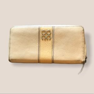 Coach yellow leather vintage wallet